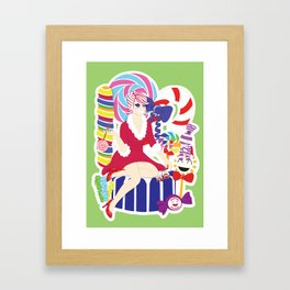 Rock Candy Treats Framed Art Print