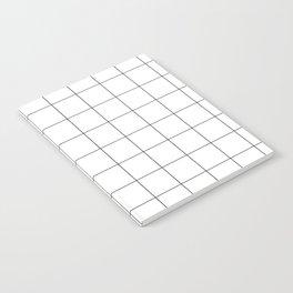 White Grid  /// www.pencilmeinstationery.com Notebook