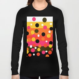 Earth and Summer Sky - Color Strips with Circles Long Sleeve T-shirt