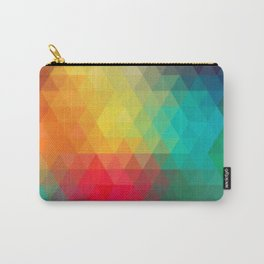 Multi-Dimensional Triangle Party Carry-All Pouch