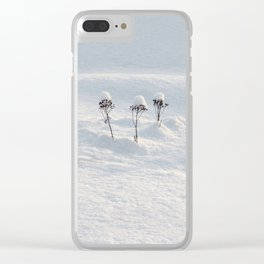 Winter Fairies Clear iPhone Case