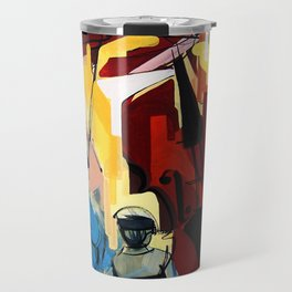 Expressive Cello People Painting Travel Mug