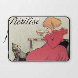 Vintage Art nouveau French milk advertising, cats, girl Laptop Sleeve
