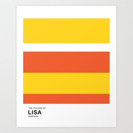 The Color of - LISA Simpsons Art Print