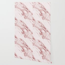 Deep rose pink marble Wallpaper
