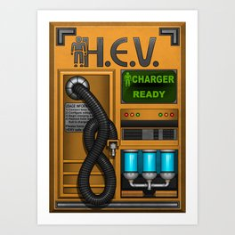 HEV Charger Art Print