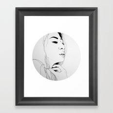 Fall in love(illustration) Framed Art Print