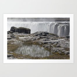 Selfoss waterfall in Iceland - nature landscape Art Print