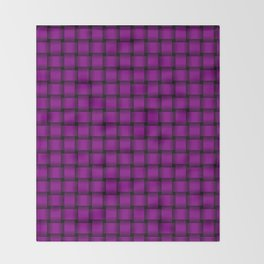 Small Purple Violet Weave Throw Blanket