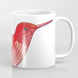 Red hummingbird colibri. Coffee Mug
