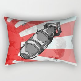 Atom Bomb Fat Boy Rectangular Pillow