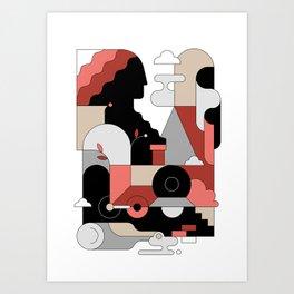 Trains Art Print