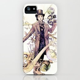 Willy Wonka and his chocolate factory iPhone Case