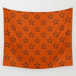 Orange stars pattern Wall Tapestry