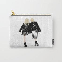 Fashionable Best Friend Holding Hand Carry-All Pouch