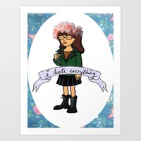 daria Art Prints featuring Daria by Aliyahtakespictures