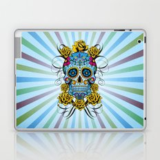 Sugar skull- Day of the dead- blue Laptop & iPad Skin