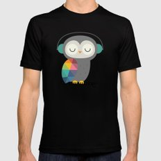 Owl Time Mens Fitted Tee Black SMALL