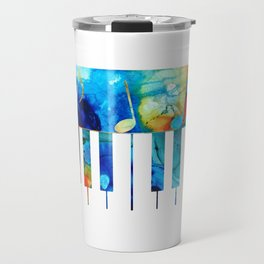 Colorful Piano Art by Sharon Cummings Travel Mug