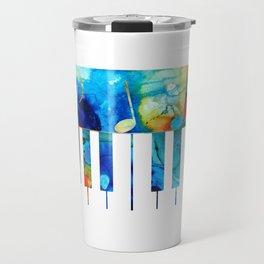 Colorful Piano Art by Sharon Cummings Travel Mug
