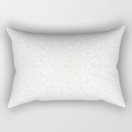 Cream on White Mandala Circle of Life Rectangular Pillow