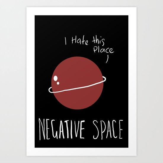 Negative Space Art Print