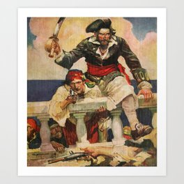 Blackbeard the Buccanneer Art Print