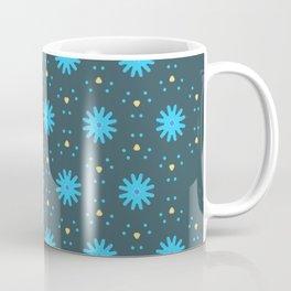 Aqua Multiflower Design Coffee Mug
