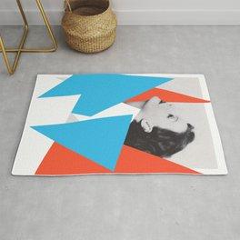 Greta Garbo - Abstract Collage Art photo Rug