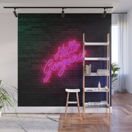 Hello Gorgeous - Neon Sign Wall Mural
