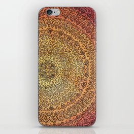 The Center of It All in Color iPhone Skin