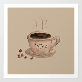 Coffee Please Art Print