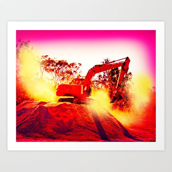Heavy Duty Earth Works Art Print