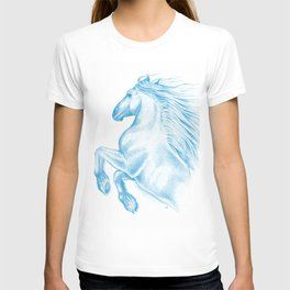 Horse In Blue T-shirt