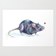 Rat love Art Print