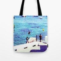 spain Tote Bags featuring spain by Natalee