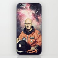 picard iPhone & iPod Skins featuring Captain Picard - Astronaut in Space by Nicholas Redfunkovich