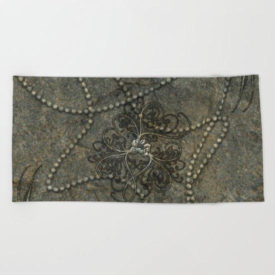 Wonderful floral design Beach Towel