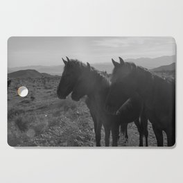 Desert Horses Cutting Board