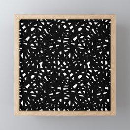 B&W Freeform Framed Mini Art Print