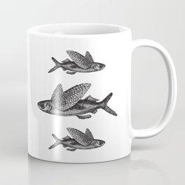 Flying Fish | Black and White Coffee Mug