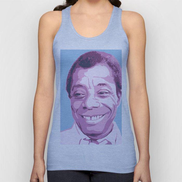 James Baldwin Portrait Blue Purple Unisex Tank Top