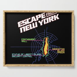 ESCAPE FROM NEW YORK MAP Serving Tray