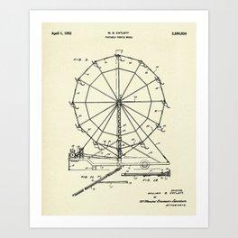 Portable Ferris Wheel-1952 Art Print