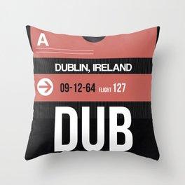 DUB Dublin Luggage Tag 2 Throw Pillow