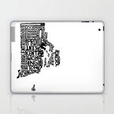 Typographic Rhode Island Laptop & iPad Skin