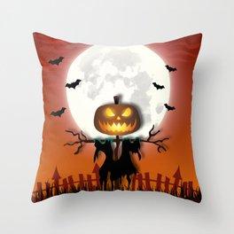 Halloween Scarecrow Throw Pillow