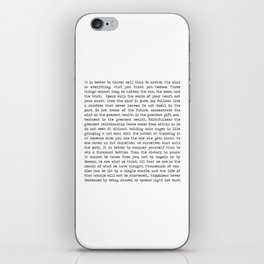 The Wisdom of Buddha iPhone Skin