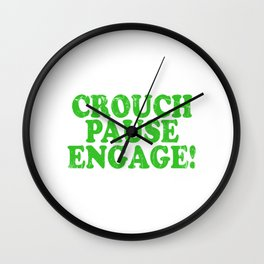 A Pause T-shirt Saying Crouch Touch Pause Engage Saying Adults Sex Sexual Intercourse Fuck Wall Clock