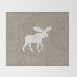 Moose Silhouette Throw Blanket